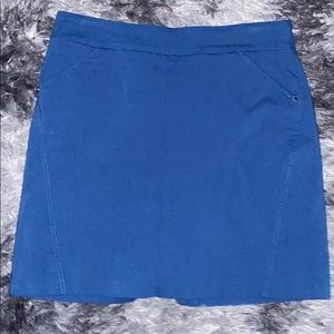 Northern reflections blue stretchy mini skirt